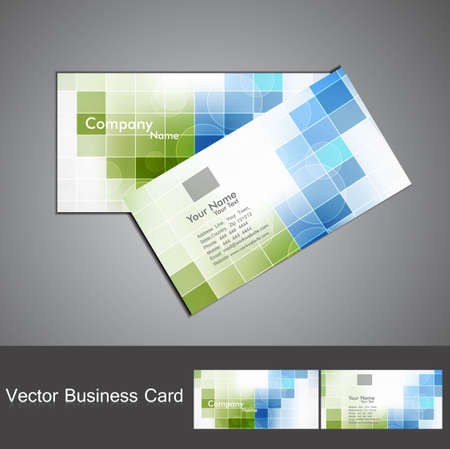 visiting card design: abstract colorful mosaic business card set design