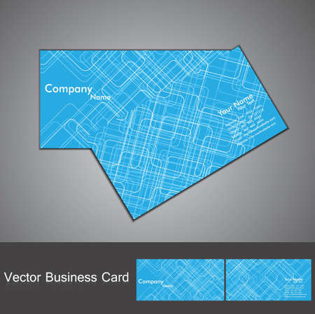 abstract tecnology business card set vector Vector