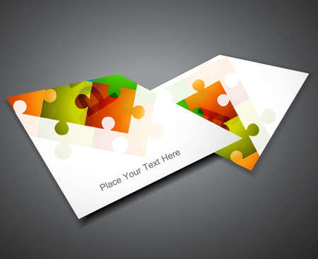 shadow match: abstract puzzle Set of business brochure colorful Vector design