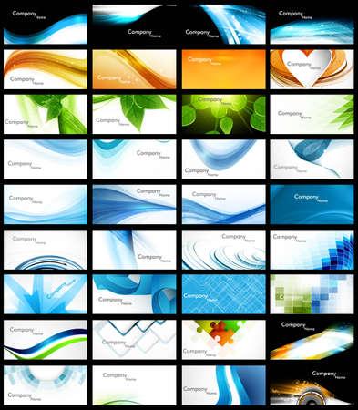 abstrakte Various 36 Business Card Set Header Sammlung Vektor-Design
