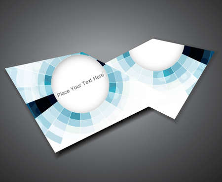abstract blue colorful mosaic circle brochure vector Vector