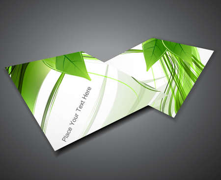 abstract business corporate brochure green lives vector illustration Vector