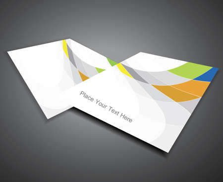 abstract Professional mosaic business corporate brochure vector Vector