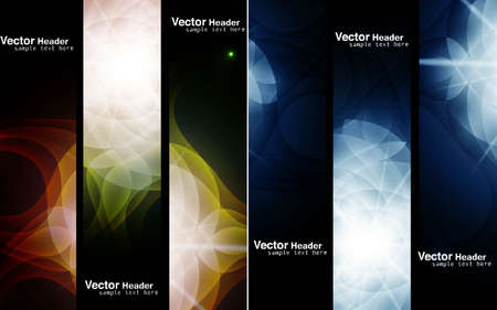 abstract header set vector design