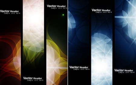 abstract header set vector design
