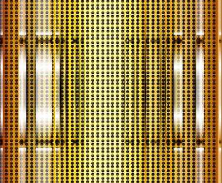 polished floor: abstract golden metal texture vector design