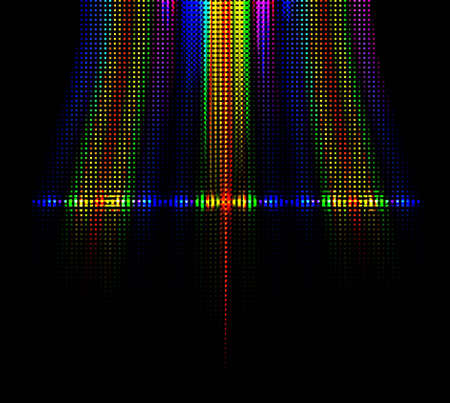 abstract rainbow shiny background Stock Vector - 18965662