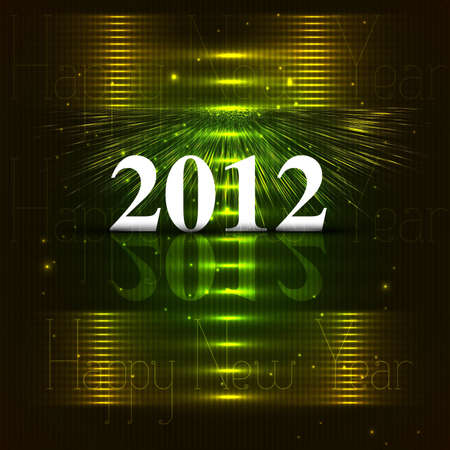 new year 2012 fantastic colorful vector  Vector