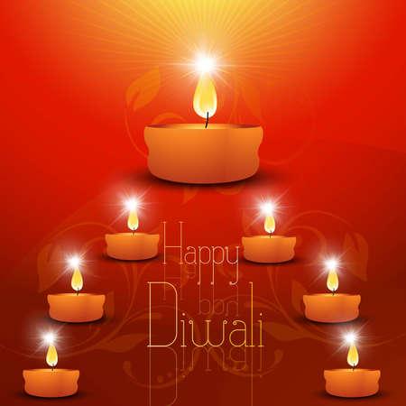 shin: abstract beautiful creative happy diwali design