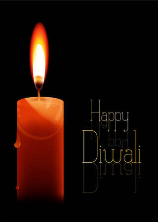 abstract beautiful candle happy diwali new background vector  Vector