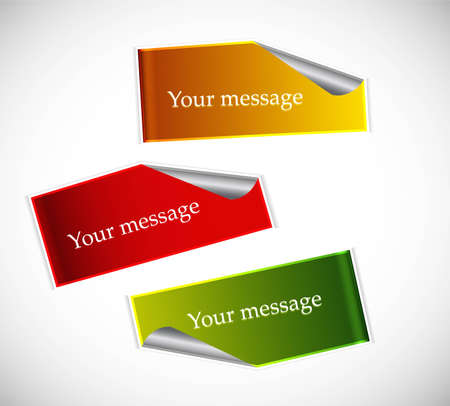 your message Labels Stickers colorful vector design Stock Vector - 18965611