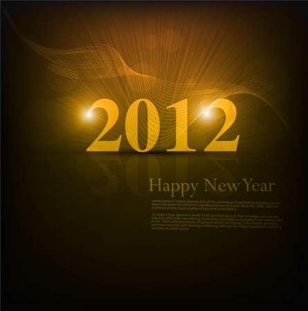 new year 2012 fantastic shiny colorful vector  Vector
