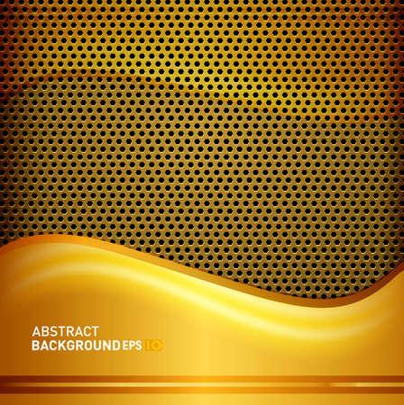 metal grid: beautiful  golden metal grid vector eps10 design Illustration