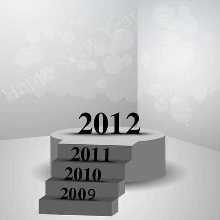 new year 2012 fantastic creative vector design  Vector
