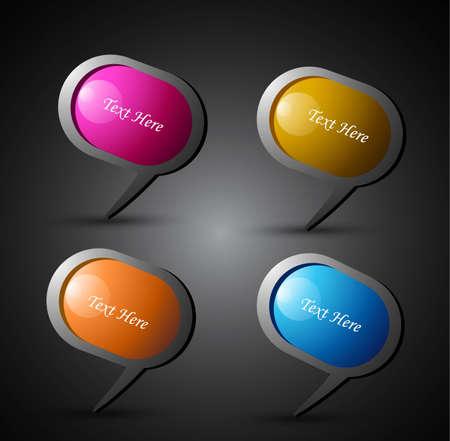 new shiny vector 3d chat bubble eps10 design