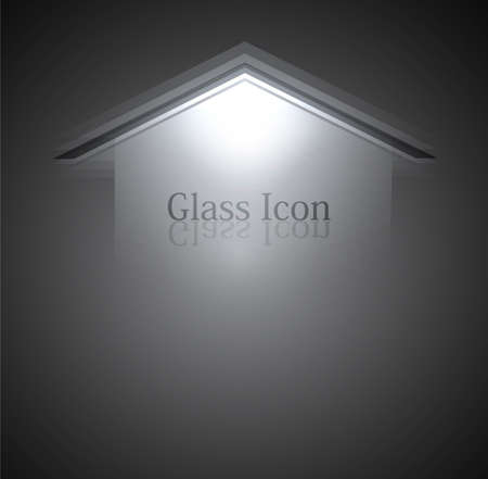new glass background arrow Vector background
