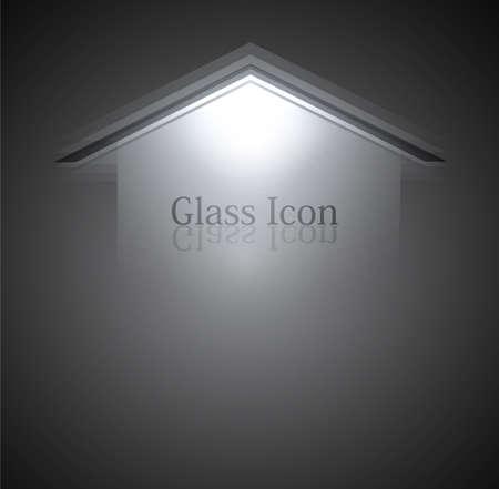 plexiglas: new glass background arrow Vector background