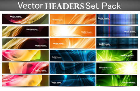 abstract Mega set of vector Headers background Stock Vector - 19164822