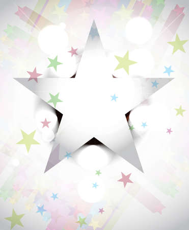 whit: Abstract star whit vector eps10 design Illustration