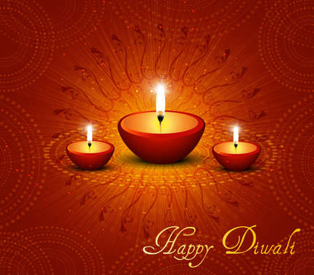 beautiful happy diwali vector background Vector