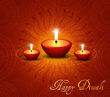 traditional festivals: hermosa feliz diwali fondo vector