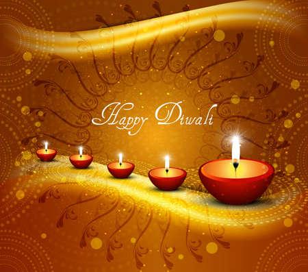 Beautiful happy diwali shiny background Vector