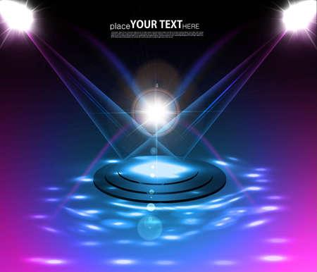 Vector Stage Spotlight shiny Laser rays fantastic design