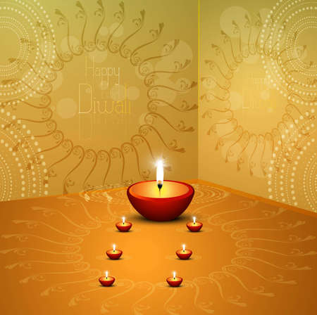 A beautiful diwali hindu festival vector background Vector