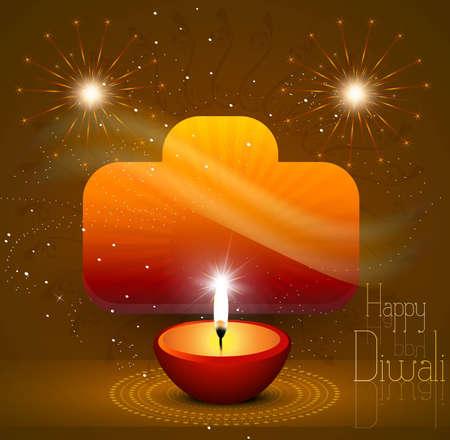 A beautiful diwali hindu festival background Vector