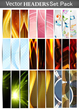 New fantastic Mega set of vertical vector Headers Collection Stock Vector - 19194871