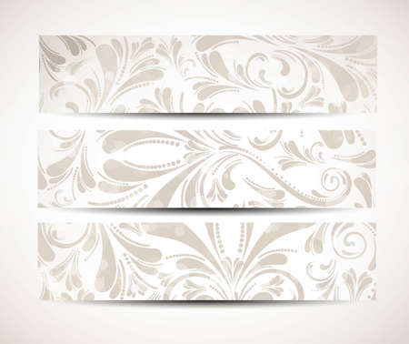 Abstract banners on different floral vector Stock Vector - 19194839