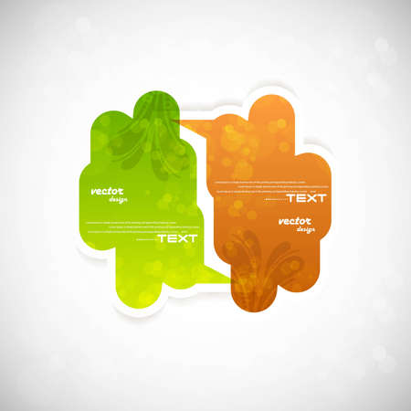whit: colorful speech bubble vector whit background Illustration