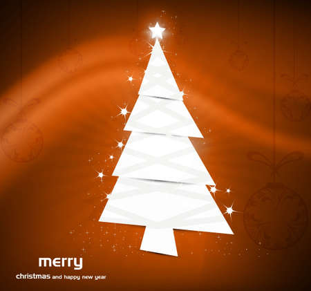 new christmas tree Vector colorful background Illustration Vector