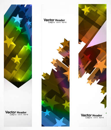 abstract star colorful banners set  Vector