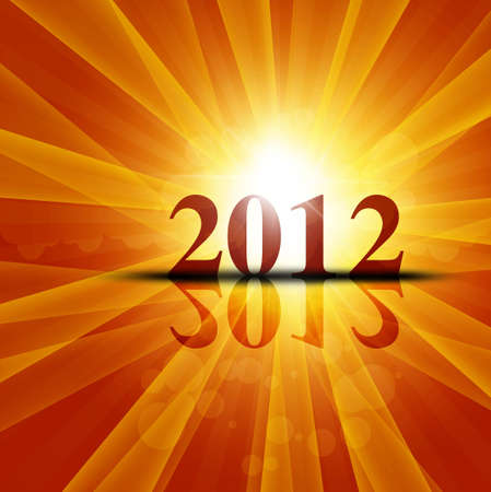 new year 2012 fantastic colorful vector design Vector
