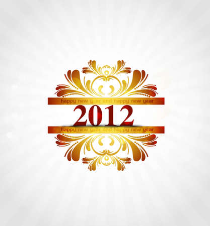 new year 2012 in colorful  background Vector Stock Vector - 19194731
