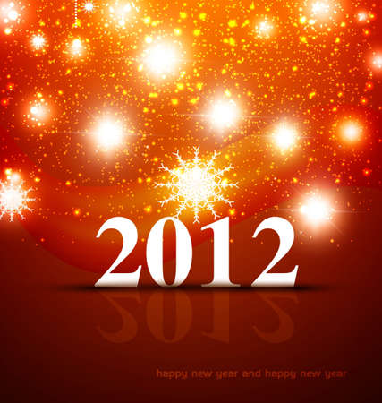 A beautiful light colorful background with 2012 vector design Vector