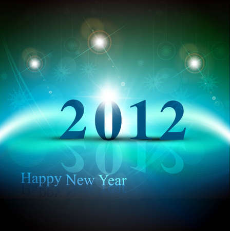 new year 2012 fantastic colorful design Vector