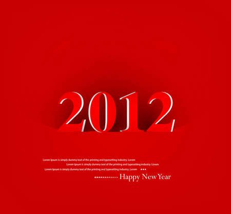 new year 2012 fantastic colorful vector background Vector