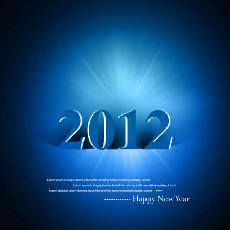 new year 2012 fantastic colorful design vector Vector