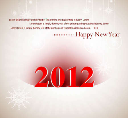 new year 2012 fantastic whit background Vector