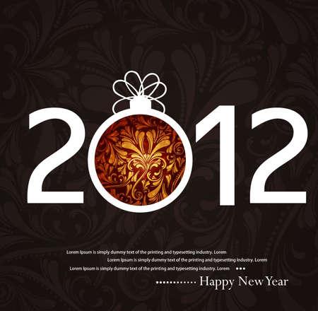 beautiful bright vector new year 2012 fantastic design Stock Vector - 19194777