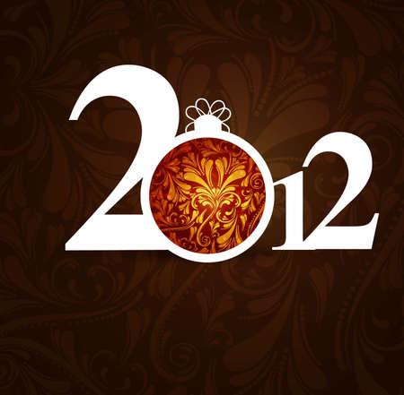 new year beautiful 2012 fantastic design Stock Vector - 19194781