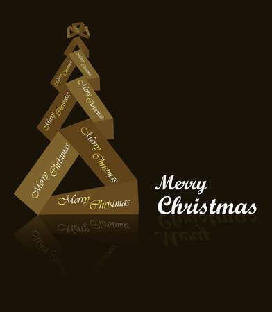 abstract new bright  beautiful christmas tree Stock Vector - 19194953