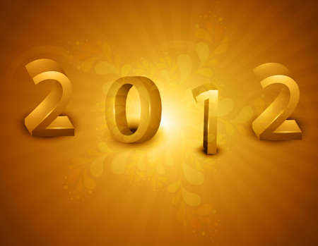 new year 2012 fantastic bright colorful vector design Vector