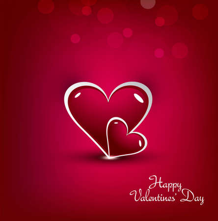 new valentines day, colorful heart vector  Vector