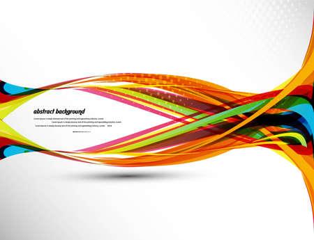 추상적 인 디자인 다채로운 무지개 웨이브 벡터 이미지 배경