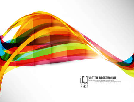 추상적 인 디자인 다채로운 새로운 무지개 웨이브 벡터 일러스트