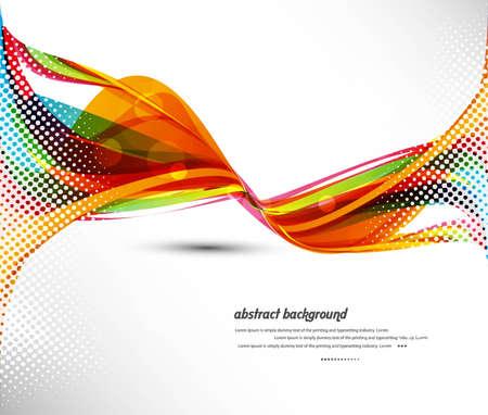추상적 인 디자인 다채로운 새로운 무지개 웨이브 벡터 이미지 그림