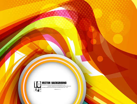 twists: abstract design colorful new rainbow wave circle vector